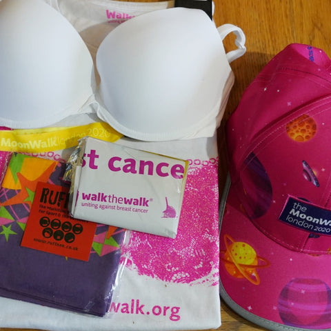 Walk the Walk decided that the merchandise for the cancelled Moonwalk 2020 should be used in 2021 to minimise waste.