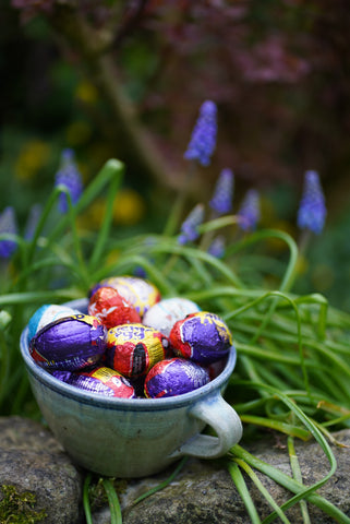 Foil is one of the easiest materials to recycle, so we can account for Easter wrappings. Picture credit: Lin Coley