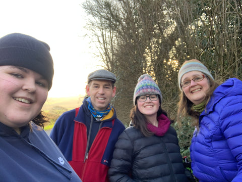 The walkers and support team that is set to walk the lanes of East Devon for Walk the Walk's virtual Moonwalk 2021.