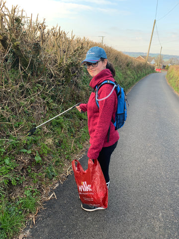 A litter pick in the lanes included several masks amongst the finds