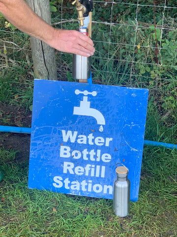 Water refill points were freely available.