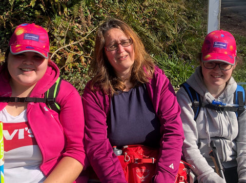 The Coley Girls team get ready for the Virtual MoonWalk