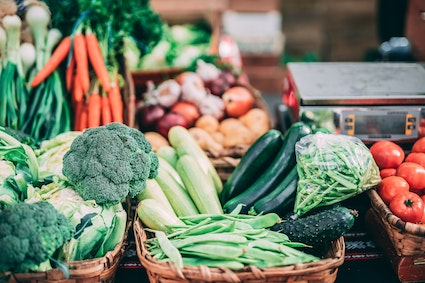 Buying loose vegetables in reusable product bags can help to reduce our use of plastic. Picture credit: Inigo de la Maza on Unsplash