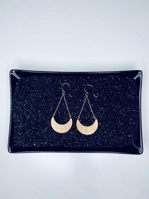 Crescent Hanging Basket Earrings