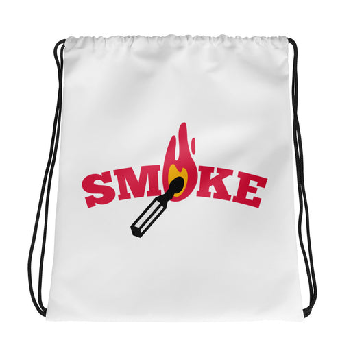 Smoke Drawstring bag