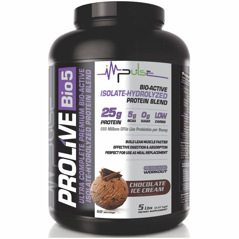 Prolive Bio5 Bioactive Protein in Chocolate Ice Cream Flavor (5.0 Lbs) | The Good Protein