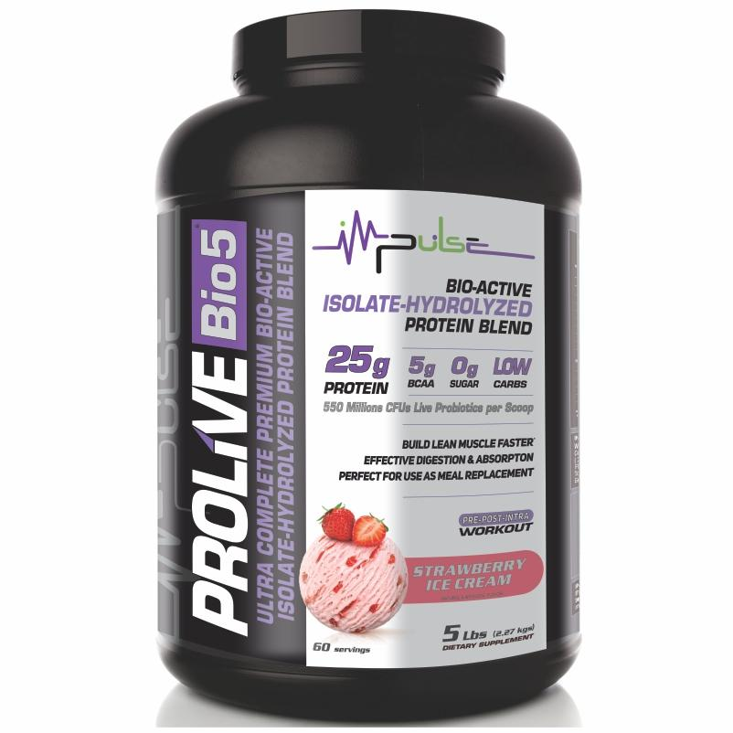 Prolive Bio5 Bioactive Protein in Strawberry Ice Cream Flavor (5.0 Lbs) | The Good Protein