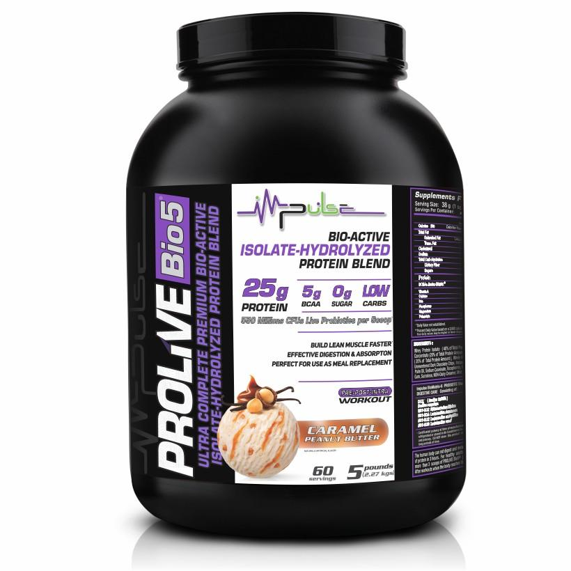 Prolive Bio5 Bioactive Protein in Caramel Peanut Butter Flavor (5.0 Lbs) | The Good Protein