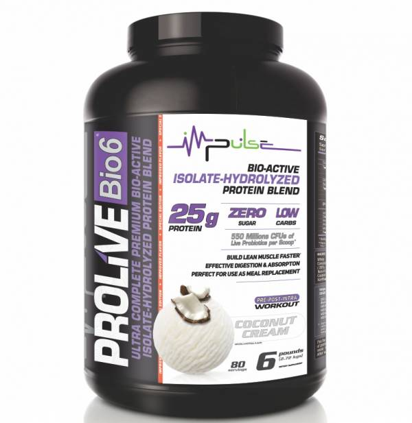 Prolive Bio6 Bioactive Protein, Isolate Protein Powder, Whey Protein Powder (Coconut Cream Flavor) 6.0 Lbs. | The Good Protein