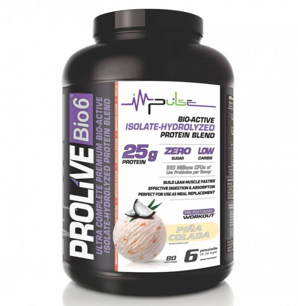 Prolive Bio6 Bioactive Protein, Isolate Protein Powder, Whey Protein Powder (Piña Colada Flavor) 6.0 Lbs. | The Good Protein