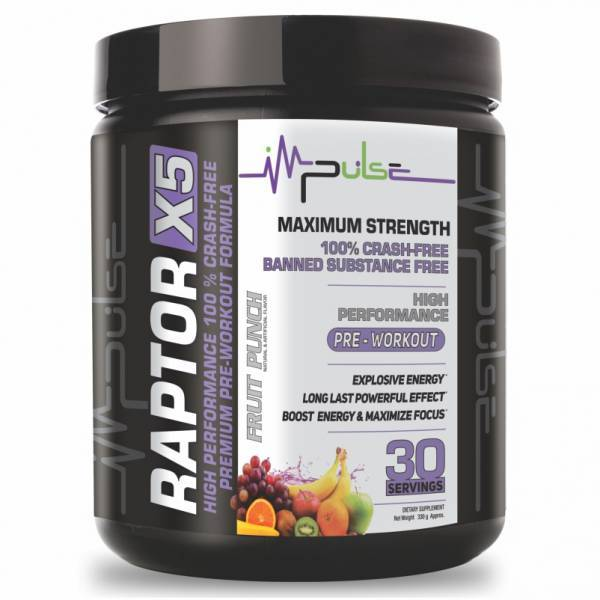 Raptor X5 Pre-workout in Fruit Punch Flavor | The Good Protein