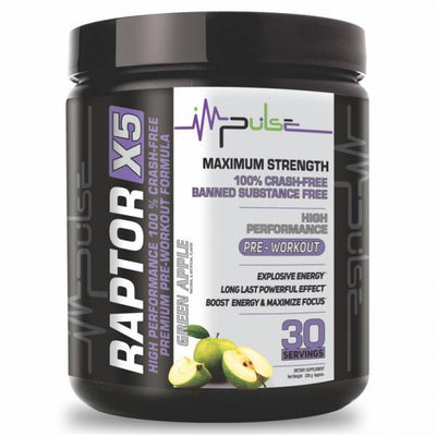 Raptor X5 Pre-Workout Green Apple | The Good Protein