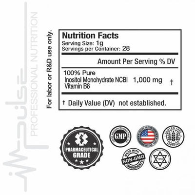 Ultra Pure Inositol 1 OZ. (Pharmaceutical Grade) | The Good Protein