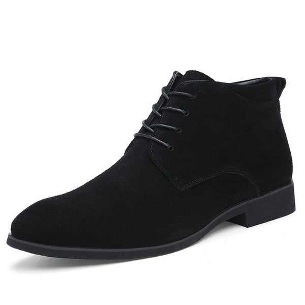 CHOOSEN HENRY LEATHER ANKLE BOOTS