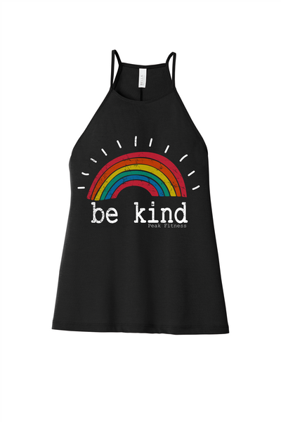 Peak Fitness Be Kind Women's Flowy High-Neck Tank