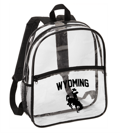 Clear Wyoming Stadium Backpacks