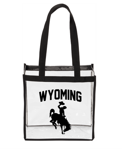 Clear Wyoming Stadium Totes
