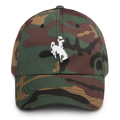 Wyoming Camo Dad hat