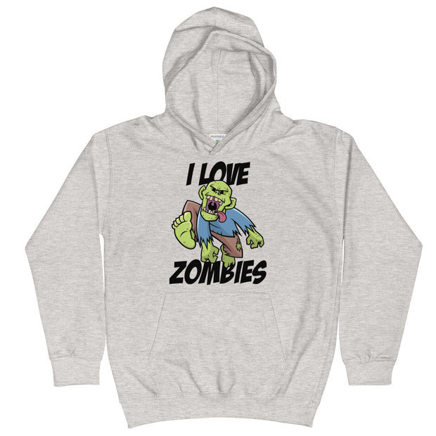 I Love Zombies Youth Hoodie