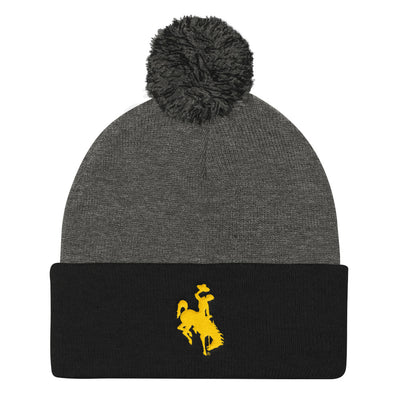 Wyoming Pom Pom Knit Cap