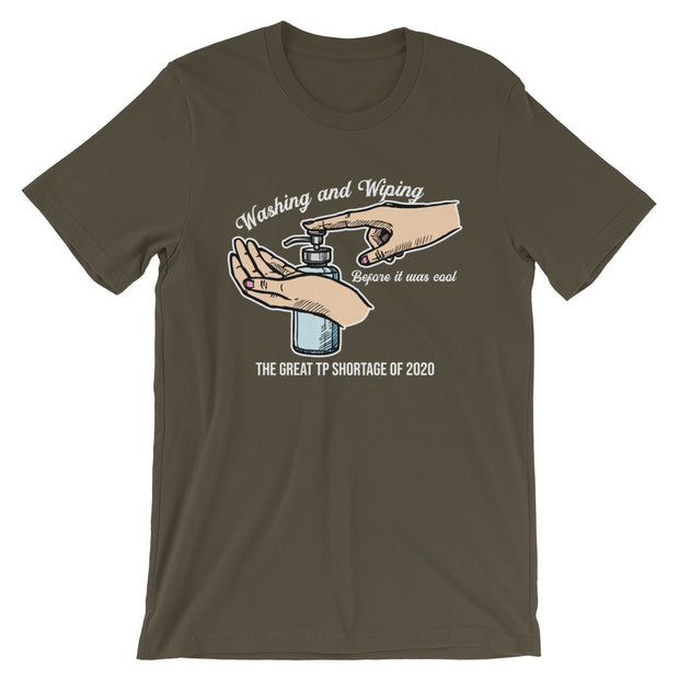 Washing and Wiping Unisex Short Sleeves - Dark Colors