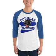 Retro Bearcat 3/4 sleeve raglan shirt