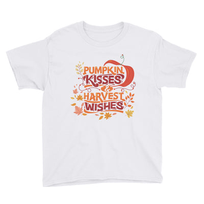 Pumpkin Kisses and Harvest Wishes Youth Short Sleeve T-Shirt