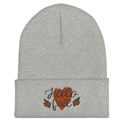 Hello Fall Cuffed Beanie