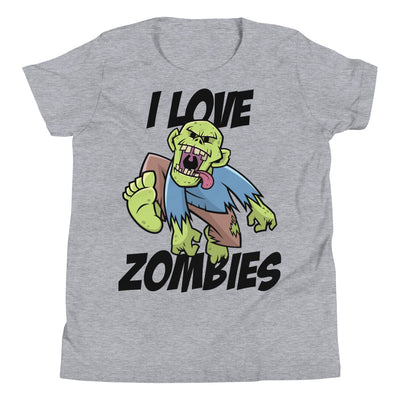 I Love Zombies Youth Short Sleeve T-Shirt