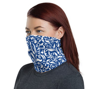 Paisley Blue Strapless Facemask