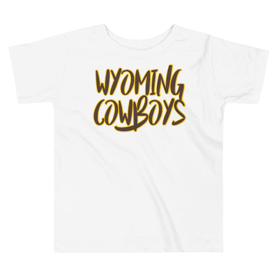 Wyoming Text Toddler Short Sleeve Tee