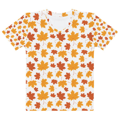 Leaf Pattern All-Over-Print Women's T-shirt