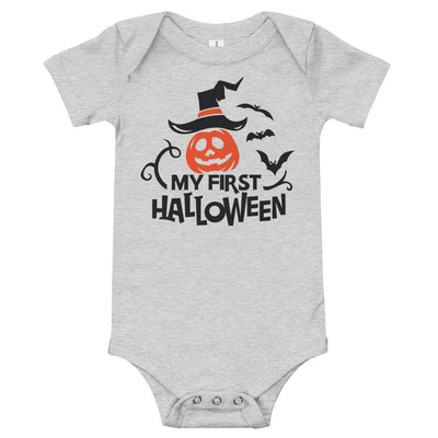 My First Halloween Pumpkin Onsie