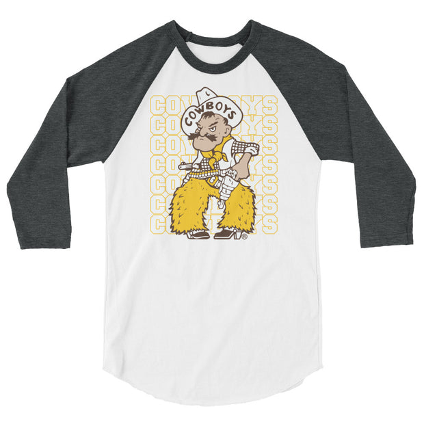 Wyoming Repeat 3/4 sleeve raglan shirt