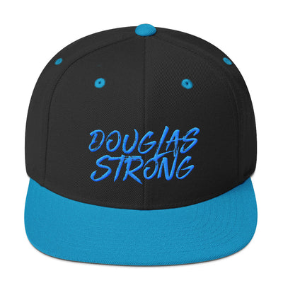 Douglas Strong Teal Snapback Hat