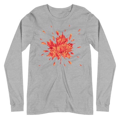 Watercolor Leaf Unisex Long Sleeve Tee