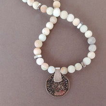 Load image into Gallery viewer, Matte Amazonite Necklace With Coin