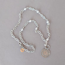 Load image into Gallery viewer, Decorated Link & French Coin Chain Necklace