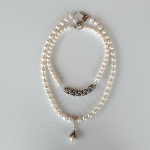Reversible Pearl Choker Necklace