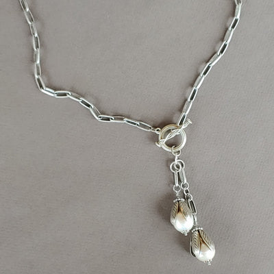 Pearl Tassel Necklace - Beauty In Stone Jewelry