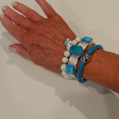 Turquoise Bracelet Stack Set - Beauty In Stone Jewelry