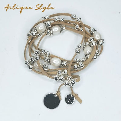 Antique Style Lariat With Pearl Accent - Beauty In Stone Jewelry
