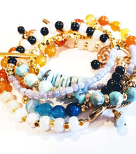 "Load image into Gallery viewer, ""Caribbean"" Mix Colored Unique Beaded Wrap Bracelet"