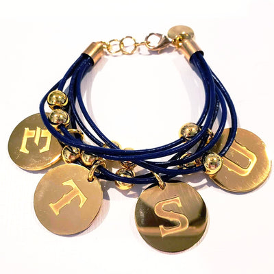 ETSU Navy Blue Leather Bracelet - Beauty In Stone Jewelry