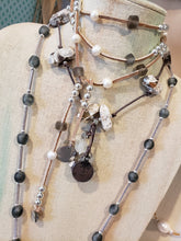 Load image into Gallery viewer, Beach Glass & Patina Lariat Necklace