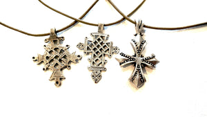 Cross On Leather Necklace