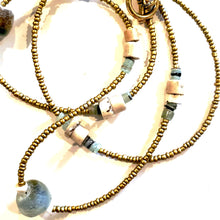 Load image into Gallery viewer, Matte Gold & Beach Glass Necklace