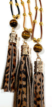 Load image into Gallery viewer, leopard tassel necklace