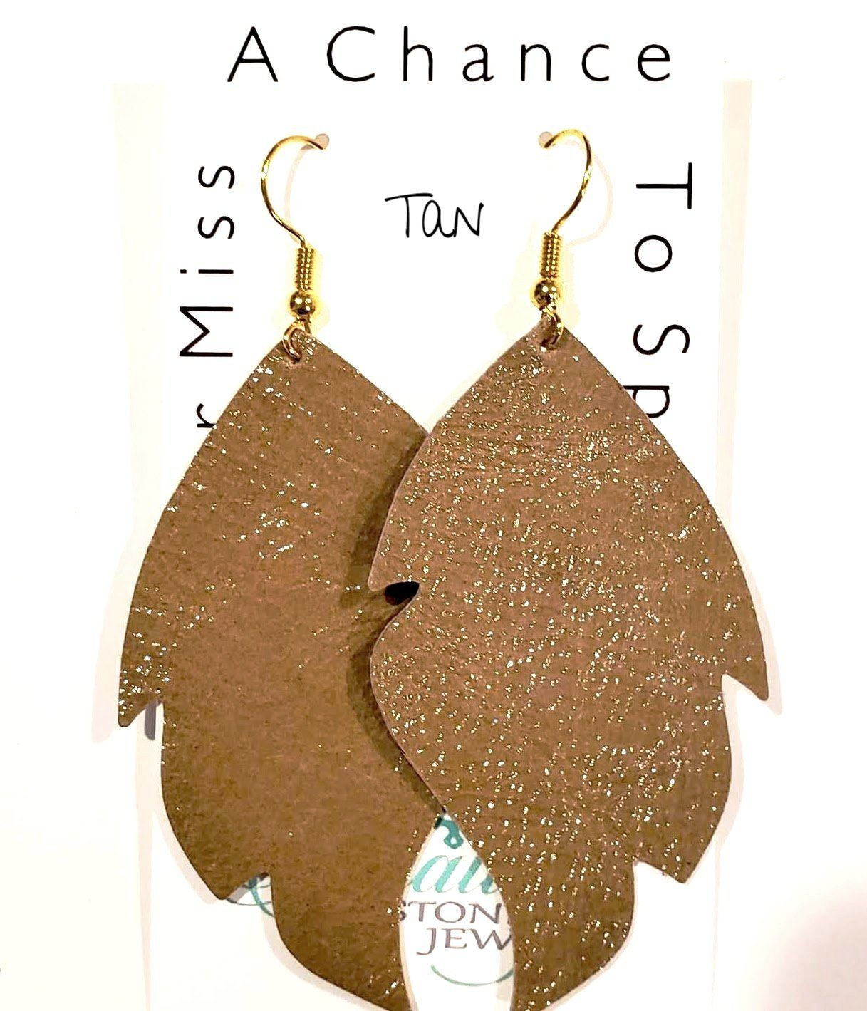 patient leather earrings