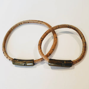 His and Her Natural Cork Bracelet